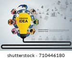 business meeting and... | Shutterstock .eps vector #710446180