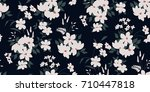 seamless floral pattern in... | Shutterstock .eps vector #710447818