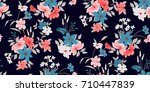 seamless floral pattern in... | Shutterstock .eps vector #710447839