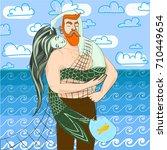 mermaid and fisherman hipster