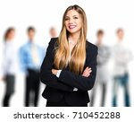 businesswoman in front of a... | Shutterstock . vector #710452288