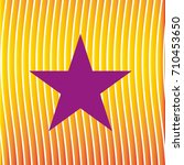 star logo on radiating lines | Shutterstock .eps vector #710453650