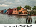 burano island's colorful houses | Shutterstock . vector #710454409