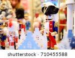 christmas nutcracker sold at... | Shutterstock . vector #710455588