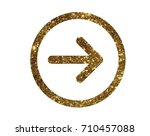 the glitter golden isolated... | Shutterstock .eps vector #710457088