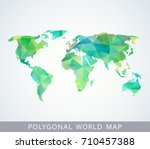 polygonal world map for... | Shutterstock .eps vector #710457388