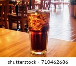 cola glass soft drink with ice... | Shutterstock . vector #710462686