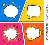 retro comic empty speech... | Shutterstock .eps vector #710462758