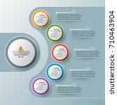 vector abstract 3d paper... | Shutterstock .eps vector #710463904
