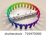 inclusion people together... | Shutterstock . vector #710470300