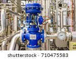 pneumatic control valve in a... | Shutterstock . vector #710475583