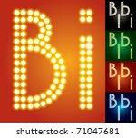 set of advanced led alphabet... | Shutterstock .eps vector #71047681