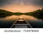 aluminum canoe on a mountain...   Shutterstock . vector #710478400