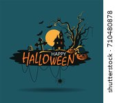 banner halloween background ... | Shutterstock .eps vector #710480878
