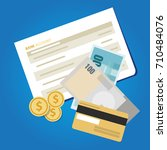 bank account book statement... | Shutterstock .eps vector #710484076