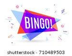 colorful banner with text bingo ... | Shutterstock .eps vector #710489503
