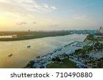 aerial photo. miami beach fl ... | Shutterstock . vector #710490880