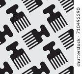 afro comb vector illustration... | Shutterstock .eps vector #710492290