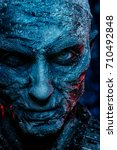 close up portrait of a zombie... | Shutterstock . vector #710492848