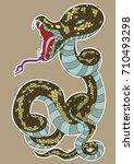snake cobra tattoo.hand drawn...   Shutterstock .eps vector #710493298