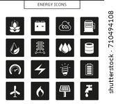 energy icons | Shutterstock .eps vector #710494108