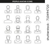 people avatar icons line style | Shutterstock .eps vector #710494720