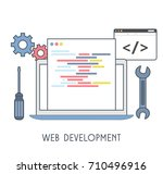 web development icon. vector