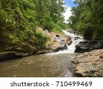 water fall | Shutterstock . vector #710499469