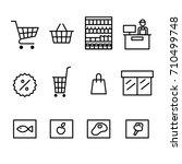 set of supermarket icon vector... | Shutterstock .eps vector #710499748
