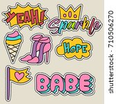 cute girly sticker patch design ... | Shutterstock .eps vector #710506270