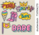 cute girly sticker patch design ... | Shutterstock .eps vector #710506270