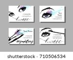 makeup artist business card.... | Shutterstock .eps vector #710506534