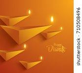 happy diwali. paper graphic of...   Shutterstock .eps vector #710508496