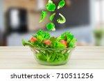 Salad Vegetables Falling In...