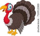 cartoon turkey isolated on... | Shutterstock .eps vector #710512300