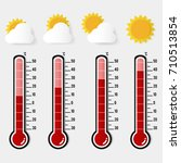 illustration of red thermometer ... | Shutterstock .eps vector #710513854