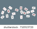 casino playing cards. vector... | Shutterstock .eps vector #710515720