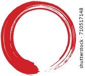 red enso zen circle brush...   Shutterstock .eps vector #710517148