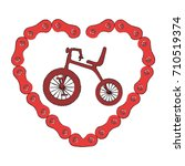cute tricycle with heart | Shutterstock .eps vector #710519374