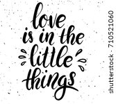 love is in the little things.... | Shutterstock .eps vector #710521060