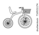 cute tricycle isolated icon | Shutterstock .eps vector #710521174