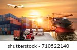 logistics and transportation of ... | Shutterstock . vector #710522140