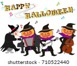 a concert of a witch and a... | Shutterstock .eps vector #710522440