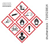 ghs danger icons safety icon... | Shutterstock .eps vector #710523814