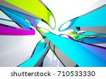 abstract architectural interior ... | Shutterstock . vector #710533330