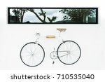 White Bicycle Hanger On A Whit...