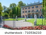 Small photo of Como, Italy - August 30, 2010: View of Villa Gallia in the Lakefront