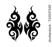 tattoo tribal vector design.... | Shutterstock .eps vector #710537320