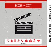 clapperboard icon   Shutterstock .eps vector #710538634