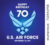 us air force birthday | Shutterstock .eps vector #710541958